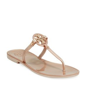Tory Burch Mini Miller Jelly Thong rose gold
